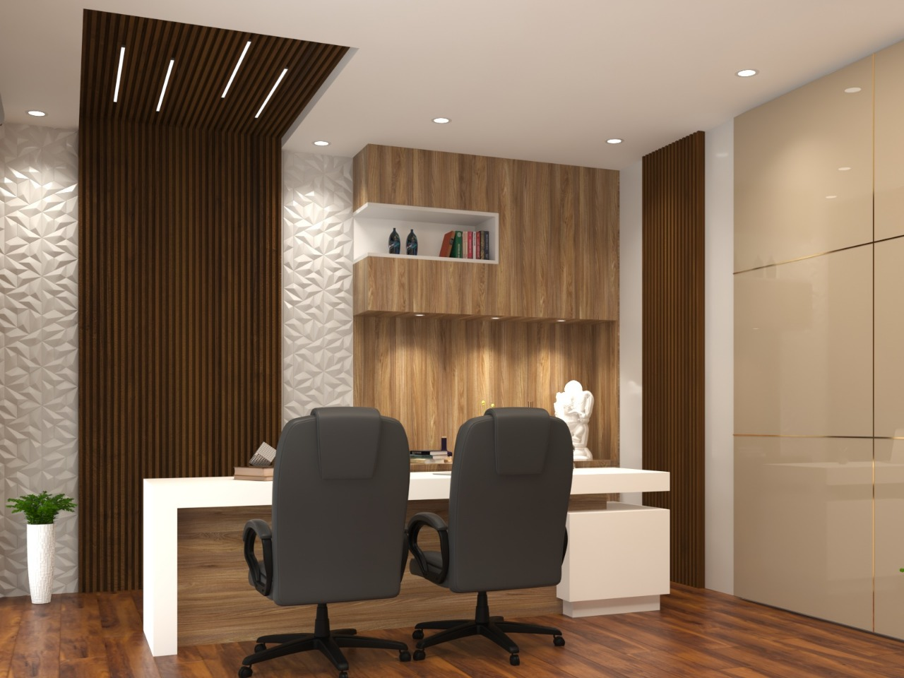 Beautifull office reception by indoslab.com